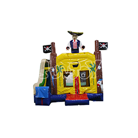 SJ-CO17009 Inflatable Pirate Bounce House Slide Combo