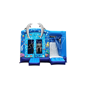 SJ-CO17003 Double Dolphin Inflatable Jump House Slide Combo