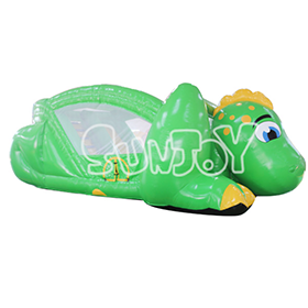 SJ-CO16113 Green Inflatable Dinosaur Jumping Bouncer Combo