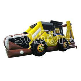 SJ-OB16012 Inflatable Farm Truck Backyard Obstacle Course