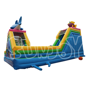 SJ-WSL16028 Inflatable Double Fish Water Slide Bounce House