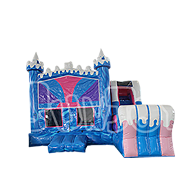 SJ-CO16047 Inflatable Ice Princess Combo Bounce House Slide