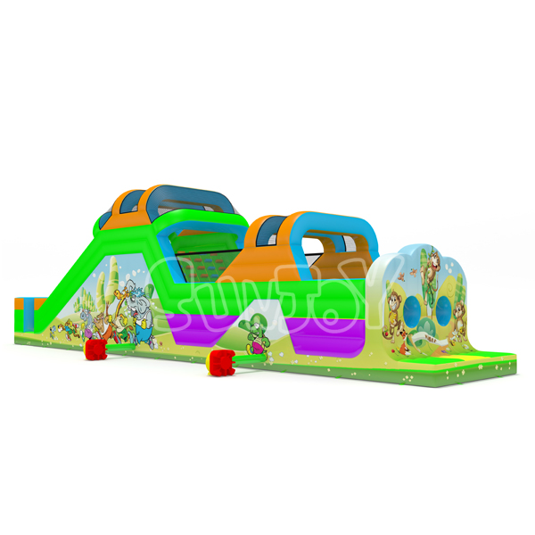20m Animal Inflatable Obstacle Course New Design For Sale