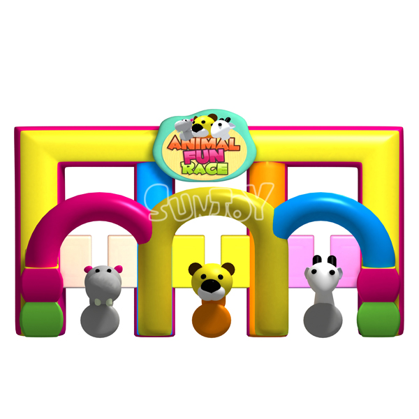 Animal Fun Race Interactive Inflatable Game For Kids SJ0891