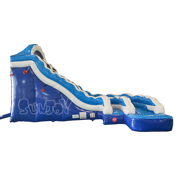 5M Commercial Inflatable Curve Water Slide For Kids and