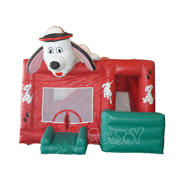 Dalmation Inflatable Combo Spotty Dog Bounce House Slide