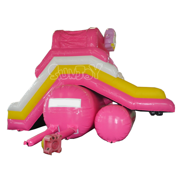 Inflatable Pink Dolphin Water Slide For Above Ground Pool