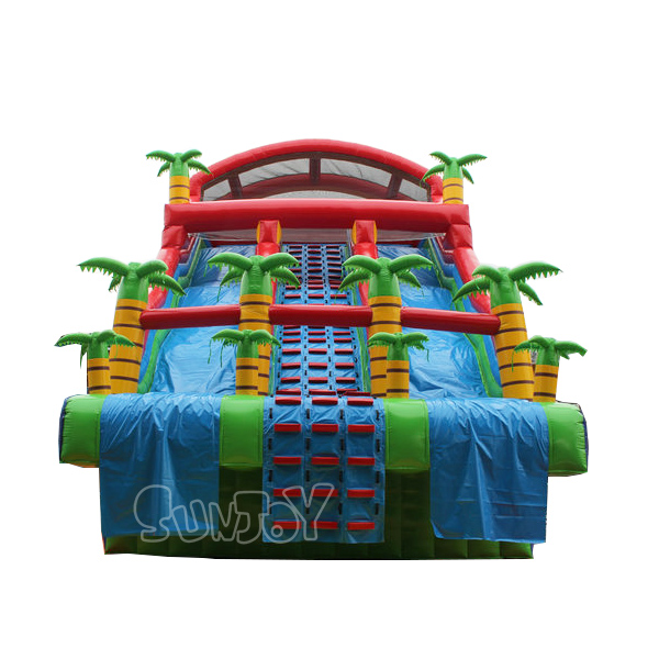 30ft Inflatable Tropical Water Slide For Above Ground Pool