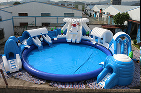 SJ-WP16001 Inflatable Frozen world water park