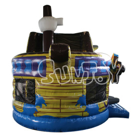 SJ-CO16118 Inflatable Pirate Ship Bounce House Slide Combo