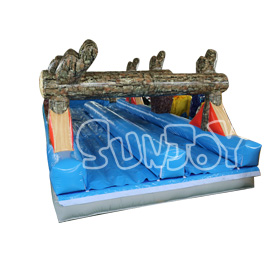 SJ-NS16001 Inflatable Log Mountain Wave Slip and Slide