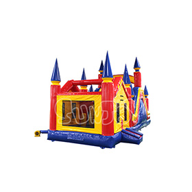 SJ-CO17001 Inflatable Bouncy Castle With Water Slide Combo