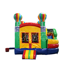 SJ-CO17002 Colored Balloon Castle Inflatable Combo For Sale