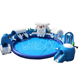 SJ-WP16001 Snow And Ice Inflatable Water Park with Pool