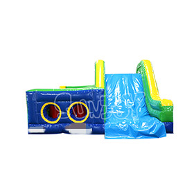SJ-OB17002 Large Slide Inflatable Obstacle Course For Sale