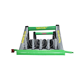 SJ-OB17004 Pillars Jungle Run Inflatable Obstacle Course