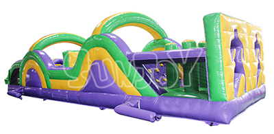 two players inflatable obstacle course