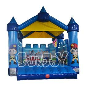 SJ-BO15020 Inflatable City Bouncing Castle For Sale