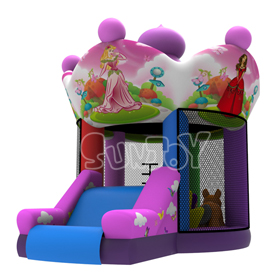 SJ0575 Princess Carousel Bounce House Inflatable Combo New Design