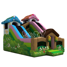 Rabbit Grass Inflatable Slide B
