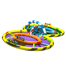 Curve Eight Inflatable Race Tra