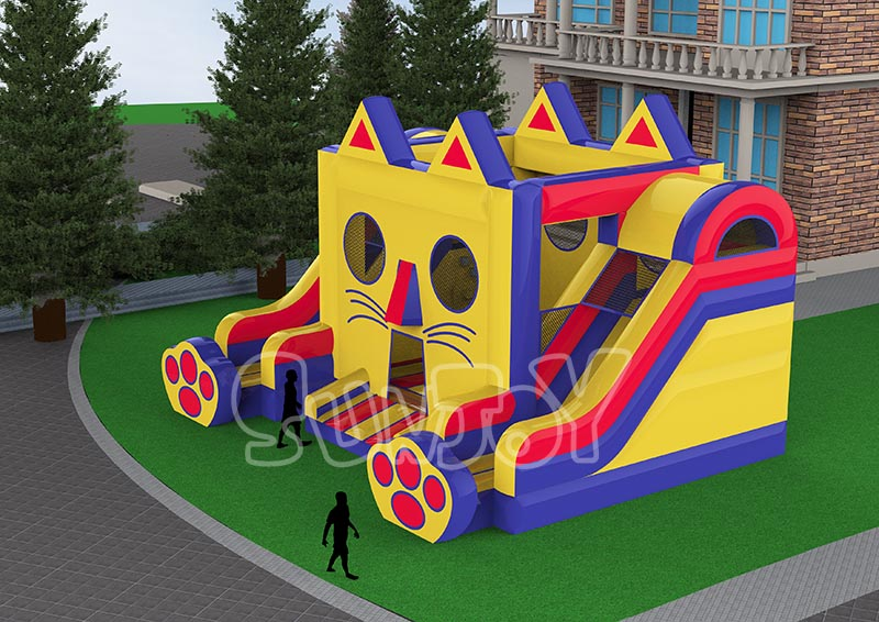 Pussy Cat Inflatable Jumper Slides Combo SJ-CO004