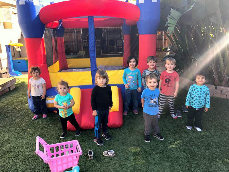 Some Average Parameters of Bounce Houses